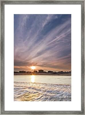 Jersey Shore Wildwood Crest Sunset Framed Print by Dustin K Ryan