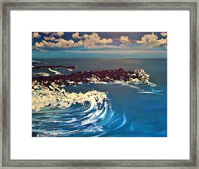 Jersey Shore Xii Framed Print by Pete Maier