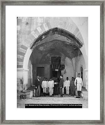 Jerusalem, American Colony, Entrance Framed Print by Everett