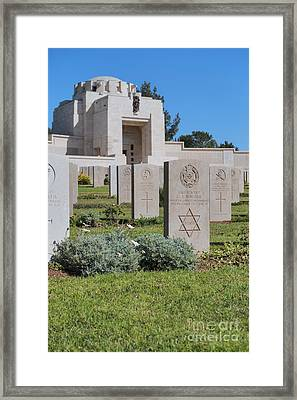 Jerusalem British War Cemetery Framed Print by Noam Armonn