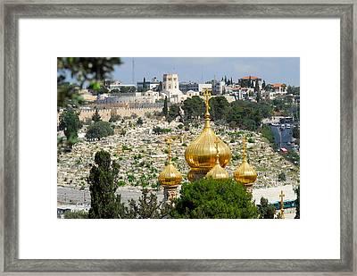 Jerusalem Church Of St Mary Magdalene  Framed Print by Eva Kaufman