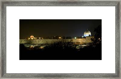 Jerusalem- City On A Hill Framed Print