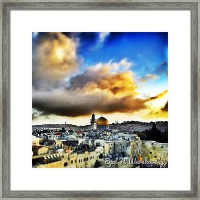 #jerusalem #dome_of_the_rock Framed Print