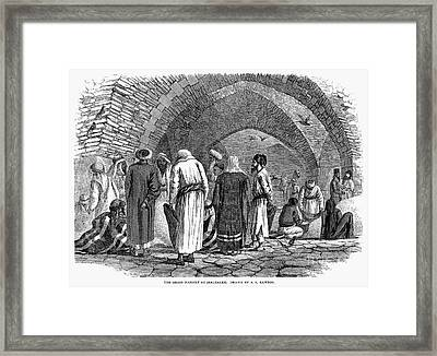 Jerusalem: Grain Market Framed Print by Granger