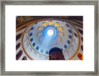 Jerusalem The Church Of The Holy Sepulcher Dome. Framed Print