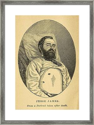 Jesse James, After His Death Framed Print by Everett