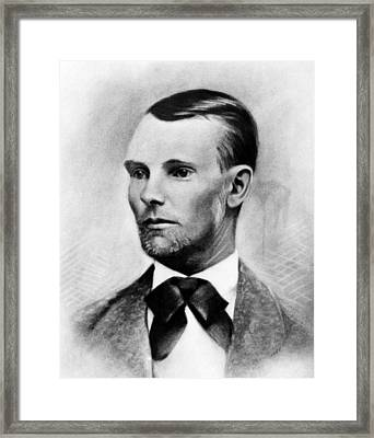 Jesse James, The Western Outlaw Framed Print by Everett