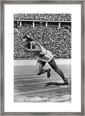 Jesse Owens (1913-1980) Framed Print by Granger