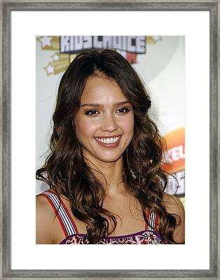 Jessica Alba At Arrivals For 2007 Framed Print by Everett