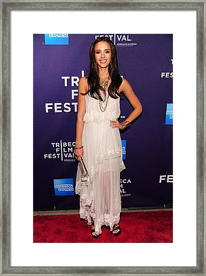 Jessica Alba At Arrivals For 2010 Framed Print