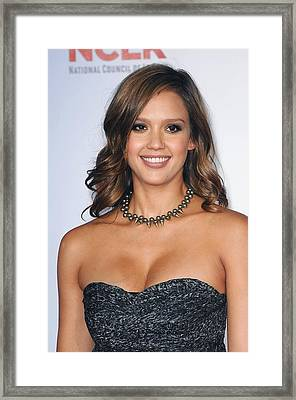 Jessica Alba At Arrivals For 2011 Nclr Framed Print