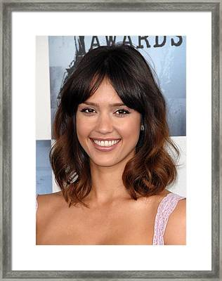 Jessica Alba At Arrivals For Film Framed Print