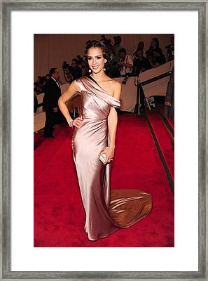 Jessica Alba At Arrivals For Part 2 - Framed Print by Everett