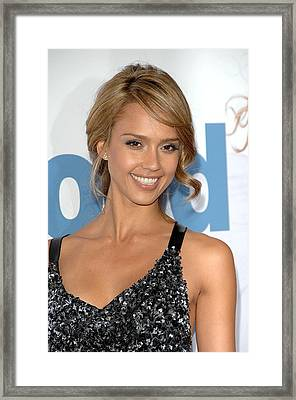 Jessica Alba At Arrivals For Premeire Framed Print