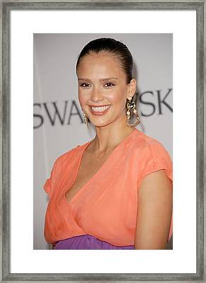 Jessica Alba At Arrivals For The 2011 Framed Print