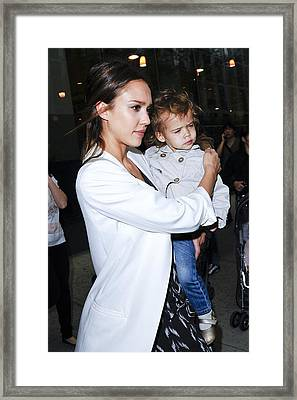 Jessica Alba, Honor Marie Warren Framed Print by Everett
