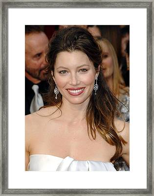 Jessica Biel At Arrivals For 81st Framed Print by Everett