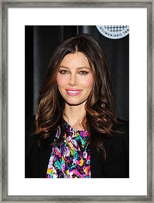 Jessica Biel At Arrivals For Summit On Framed Print by Everett