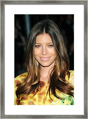 Jessica Biel At Arrivals For The 2010 Framed Print by Everett