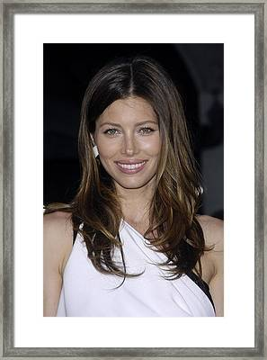 Jessica Biel At Arrivals For The A-team Framed Print