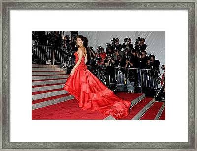 Jessica Biel Wearing An Atelier Versace Framed Print by Everett