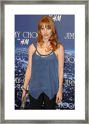 Jessica Chastain At Arrivals For Jimmy Framed Print by Everett