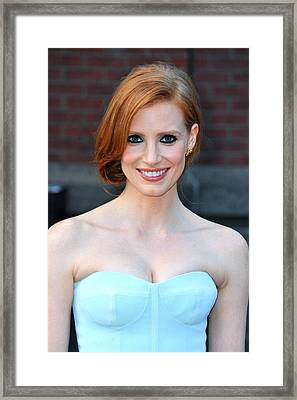 Jessica Chastain At Arrivals For The Framed Print by Everett