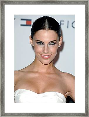 Jessica Lowndes At Arrivals For 17th Framed Print by Everett