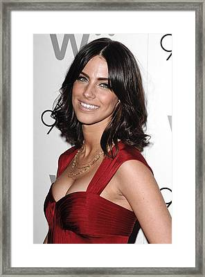 Jessica Lowndes At Arrivals For 90210 Framed Print by Everett