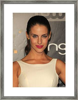 Jessica Lowndes At Arrivals For Bing Framed Print by Everett