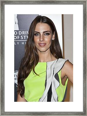 Jessica Lowndes At Arrivals For Rodeo Framed Print by Everett