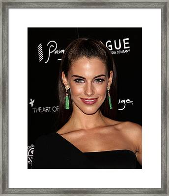 Jessica Lowndes At Arrivals For The Art Framed Print by Everett