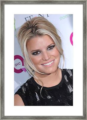 Jessica Simpson At Arrivals For 2009 Framed Print by Everett