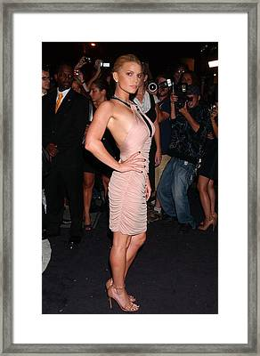 Jessica Simpson At Arrivals For Just Framed Print by Everett