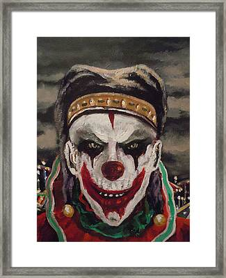 Framed Print featuring the painting Jester's Night by James Guentner