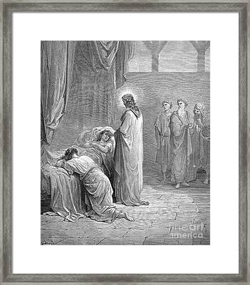 Jesus & Jairus Daughter Framed Print by Granger