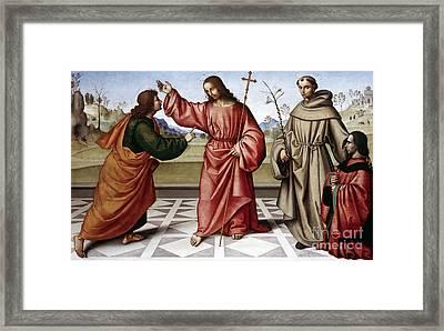 Jesus & Thomas Framed Print
