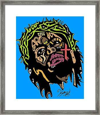 Jesus Christ Framed Print by Kamoni Khem