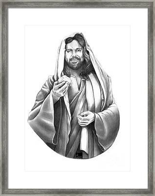 Jesus Christ Framed Print by Murphy Elliott
