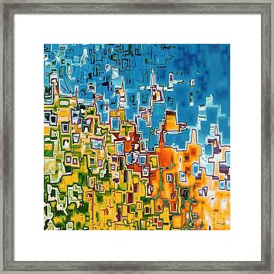 Jesus Christ The Image Of God Framed Print by Mark Lawrence
