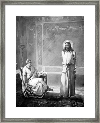 Jesus Christ, Title Jesus Christ Tried Framed Print by Everett