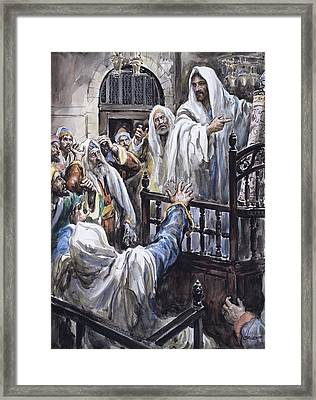 Jesus  Framed Print by Henry Coller