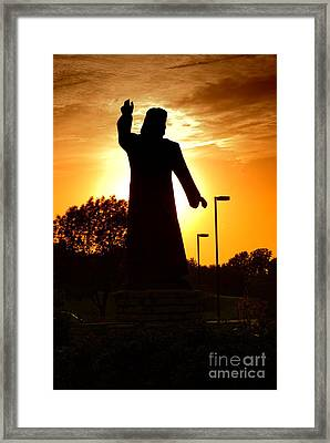 Jesus In The Garden Framed Print
