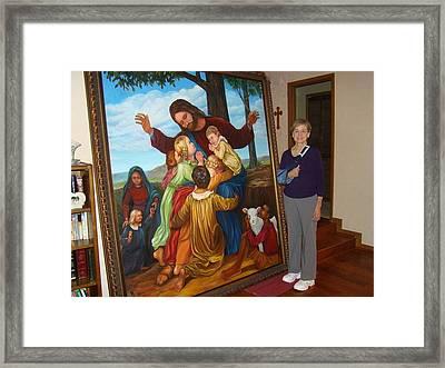 Jesus Loves The Children Framed Print by Bobi Glenn