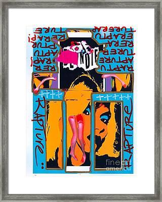 Jesus Rapture Framed Print by Ricky Sencion