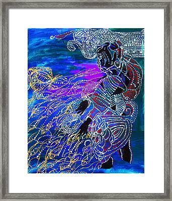 Jesus Reaps His Harvest Framed Print by Gloria Ssali