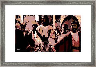 Jesus Rides Into Jerusalem Framed Print by George Pedro
