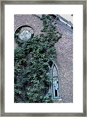 Framed Print featuring the photograph Jesus Saves...just Not This Church by John Crothers