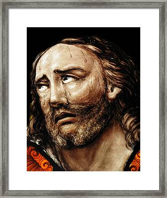 Jesus Tears Framed Print by Munir Alawi