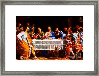 Jesus The Last Supper Framed Print
